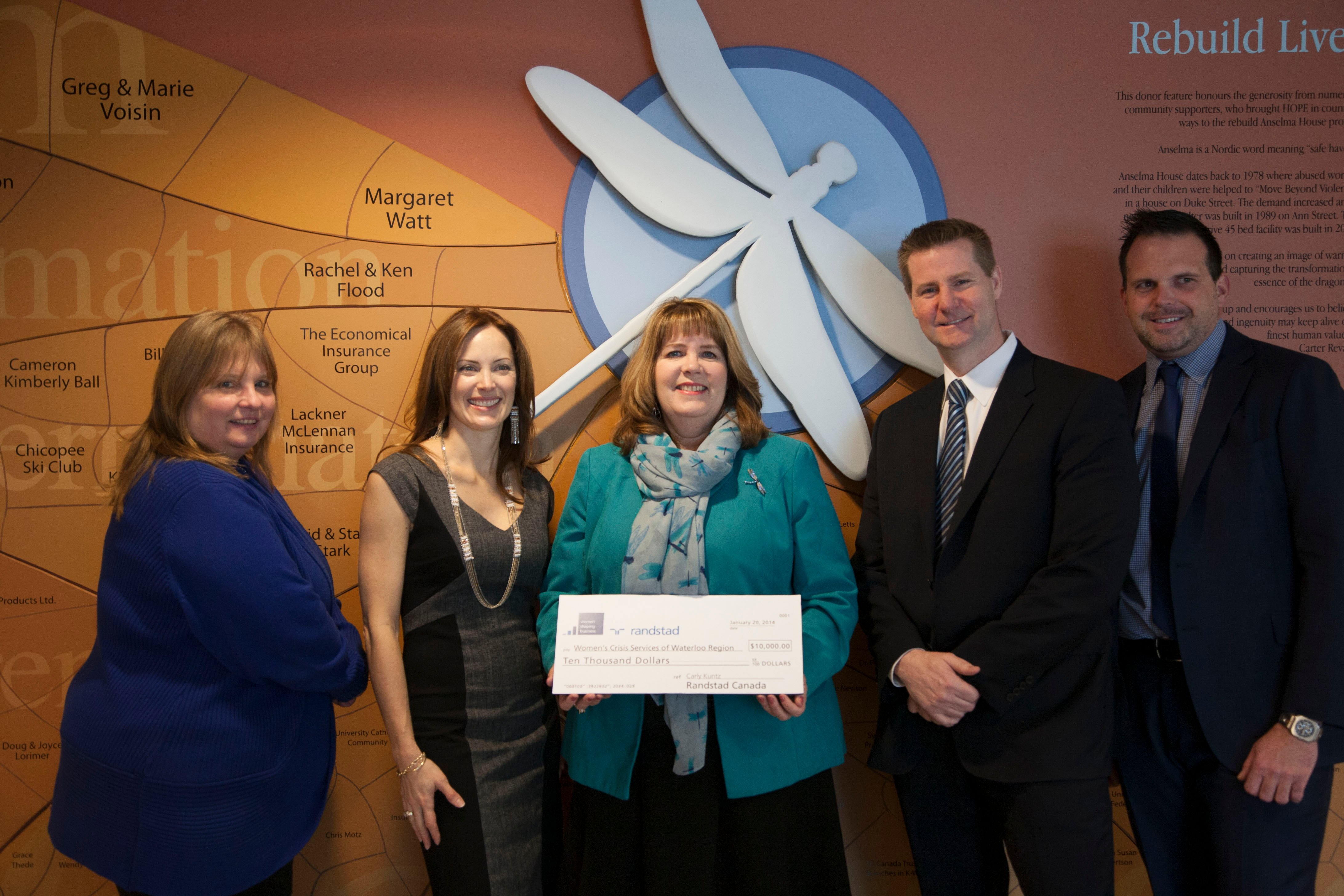$10,000 to the Women's Crisis Services of Waterloo Region